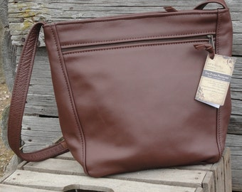 Rita style - brown leather purse - Made in the USA