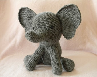 grey elephant - stuffed toy