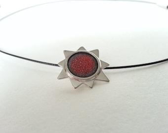 Sterling silver enamel star pendant enamel jewelry vitreous enamel fired on copper