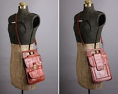 Brown leather Valentino Creazioni cross-body purse