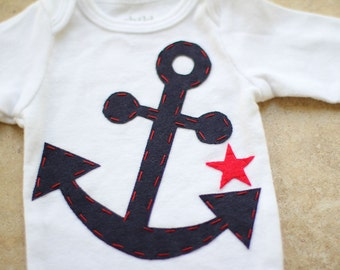 Nautical Anchor Onesie - Made to Order