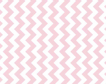 "STORE CLOSING Sale Riley Blake Manufacturer Cut Small Chevron Baby Pink (58"" wide) 1 yard"