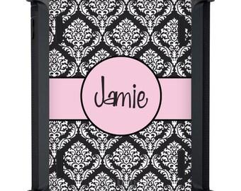 iPad Case OtterBox Defender - iPad Air 2 Case - Monogrammed iPad Case - Custom iPad 2 3 4 Cover - Personalized iPad Black White Light Pink