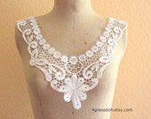 White color venice lace applique / VN-15