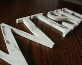 """Any 4 (FOUR)  Distressed 6"""" wooden letters painted--Any word-Any color SIX INCH"""