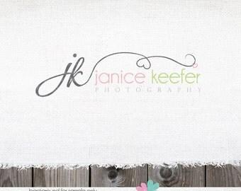 Photography Logo - Logo Design Heart Swirls and Initials Logo - Logo design - logo for photographer - heart logo - premade logos designs