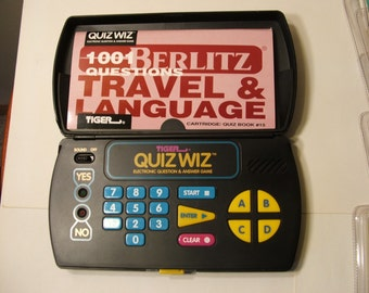 Vintage Tiger Quiz Wiz Electronic Question & Answer Game 1993. 8 Games Included