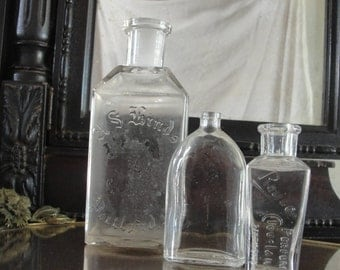 Antique Perfume bottles collection of three
