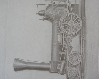 Locomotives print - 1911