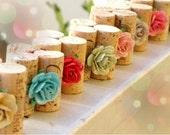 Sparkling Garden Place Card Holders - Set of 10 Repurposed Wine Corks for Wedding Reception or Bridal Shower