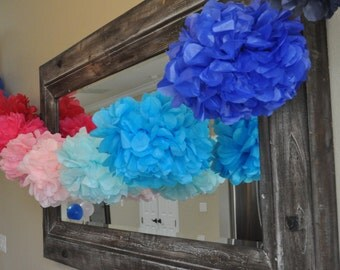 14 tissue poms- Gender reveal party