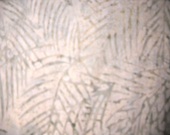 Cream Batik Fabric, 100 Percent Cotton, by Island Batik, 1 yard cut