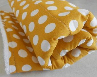 Mustard Yellow Dot Dish Mat / Kitchen Drying Towel / Dish Drying Mat /  Great Mothers Day Gift