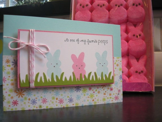 Peeps Easter Bunny Card
