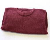 vintage 1910's - 1930's Men's crew neck sweater. W.R. Sears - 100% Virgin Wool - Very Good condition. Small - Medium