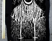 Mother Nature black metal BACK PATCH huge punk diy vegan pro tree anti human