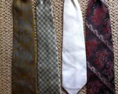 Vintage clip on neck ties retro