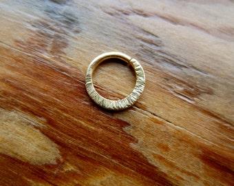 Hammered Hoop : Gold Nose Ring ..Aprilsblissed.. Septum Jewelry .. Gold nose ring.. nose hoop..14K Gold .. Tribal Nose Adornment ..