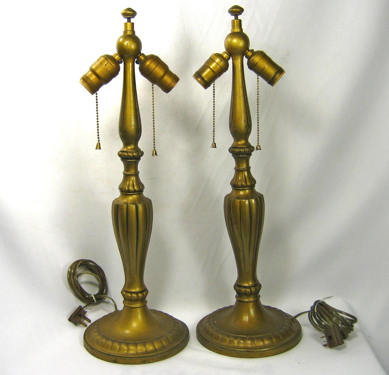 Table Lamps Vintage Art Nouveau Deco Jefferson