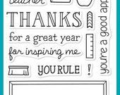 Teacher Appreciation Stamp Set, Teachers Stamps