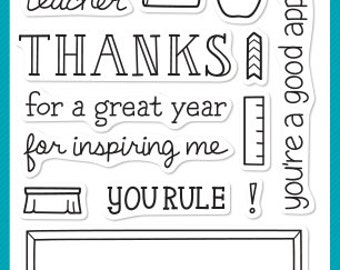 Teacher Appreciation Stamp Set, Teachers Stamps