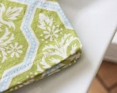 Cocktail Napkin - Blue and Green Design - REDUCE REUSE RECYCLE - Set of 4 Napkins