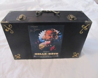 La Belle Et La Bete French Beauty And The Beast Suitcase Keepsake Box