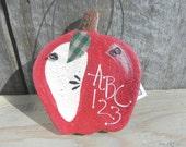 Salt Dough Apple Ornament Handmade Teachers Thank You Gift