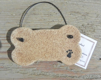 Dog Bone Salt Dough Ornament Non Edible Dog Bone