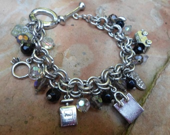 Charm Bracelet with Kitschy Shopper charms