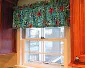 "Valance Retro Look Turquoise  ATOMIC  Print  Eames style 12"" 14"" 18"" 24"" 32"" Lined or Unlined"