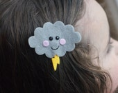 Storm Cloud Hair Clip- Meet Miss Stormie