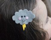 Storm Cloud Hair Clip- Meet Miss Stormie