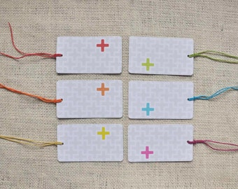 GIFT TAGS : Set of 24 - ADDIE pattern