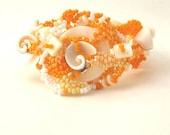 beaded jewelry, beadwork bracelet, freeform jewelry,  seed bead bracelet, handmade cuff, art beadwork, beadweawing bracelet