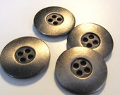 BUTTONS | 5 Modern Metal Buttons | Brushed Pewter Finish | 1 inch
