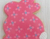 Floral Bunny cookies 2 dozen