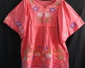 Women Blouse Maternity T-shirt Shirt Ladies Top Tunic Dress Caftan Kaftan Embroidered Ladies