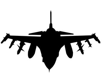 F16 Fighter Jet wall decal - large