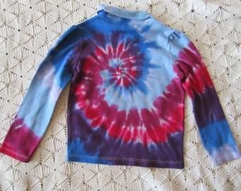 SALE   Tie dye shirt - 4 Toddler, long sleeve, spiral  SALE