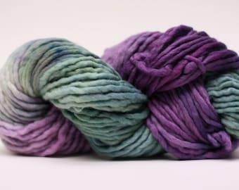 Single Ply sp Super Bulky Yarn  Hand dyed Merino 44sp13009 Stripey 03