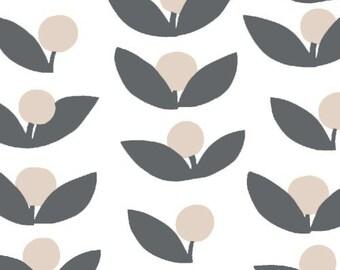 Half Yard Glimma Canvas Tove in Slate, Lotta Jansdotter, Windham Fabrics, 100% Cotton Canvas Fabric, 35380C-2
