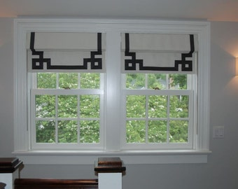 top down bottom up shade favorite favorited add to added flat roman with greek key banding