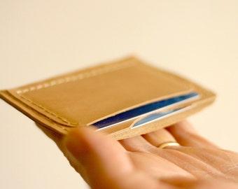 Leather card holder - Slim wallet - Little wallet with pocket for credit card - Card holder - Italian leather - Credit card holder