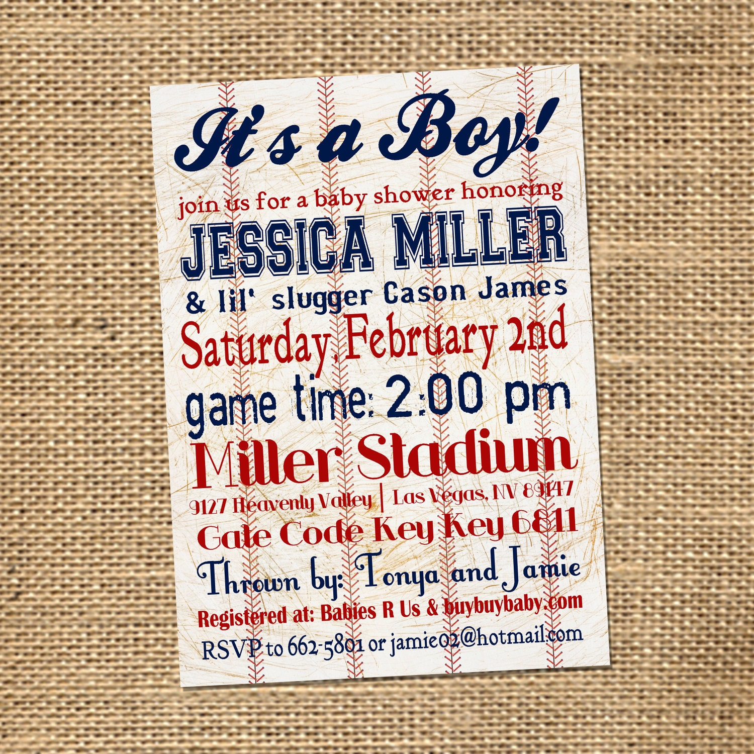 5x7 custom baseball themed baby shower by plgraphicdesign on etsy