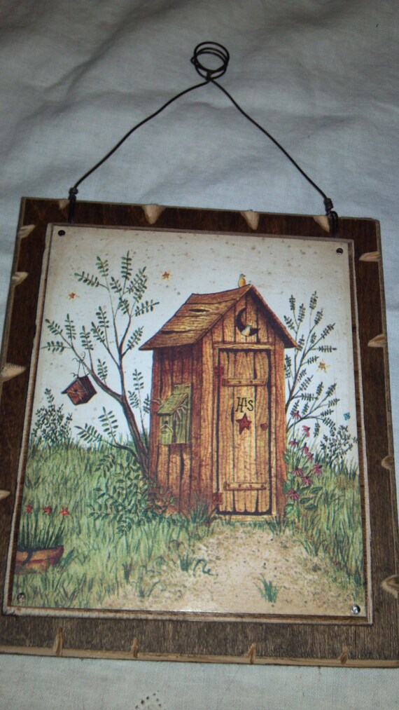Sale his outhouse bathroom decor rustic wall hanging for Bathroom decor sale