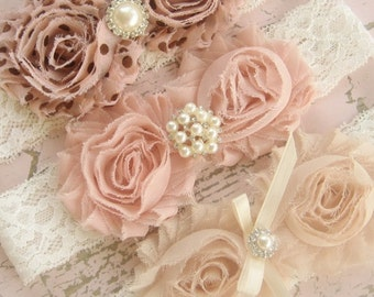 Vintage Headband - Chocolate Chip Collection - One Headband -  Flower Girl, bridesmaids, shabby chic colors