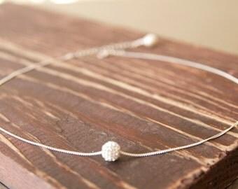 Best Friend Gift Ideas/Swarovski Crystal Ball Necklace/ World Charm Crystal Necklace/Best Friend Necklaces
