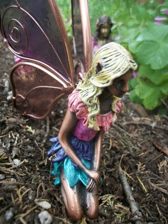 Sale fairy statue original hand painted by whitedovetreasures - Fairy statues for sale ...