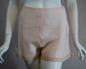 1940s Pink Rayon Tap Panties, Small, 26 waist